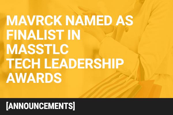 MassTLC Names Mavrck as Finalist  in 18th Annual Tech Leadership Awards