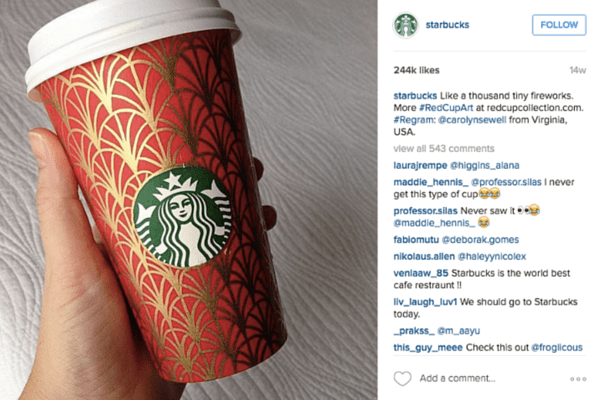 Starbucks user-generated content