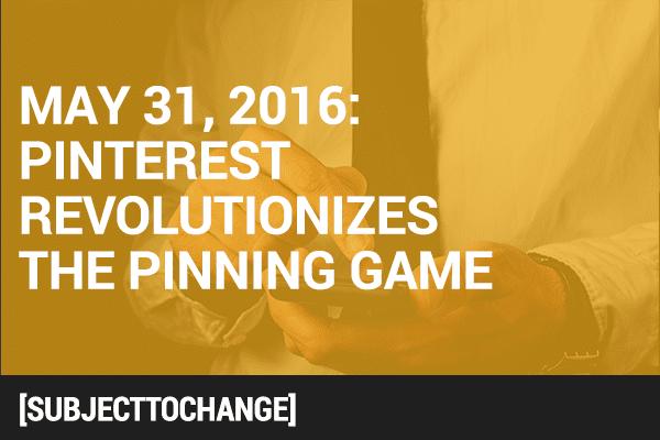 #SubjectToChange: Pinterest's Red Dot Revolution