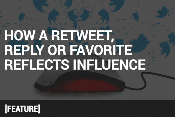 How a Reply, Favorite, or Retweet Reflects Influence
