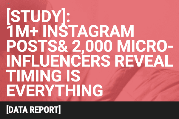 [Study] 1M+ Instagram Posts and 2,000 Micro-influencers Reveal Timing is Everything