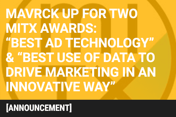 Mavrck Named a 2016 'MITX Awards' Finalist in Technology and Marketing Categories