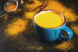 Traditional Indian drink turmeric milk